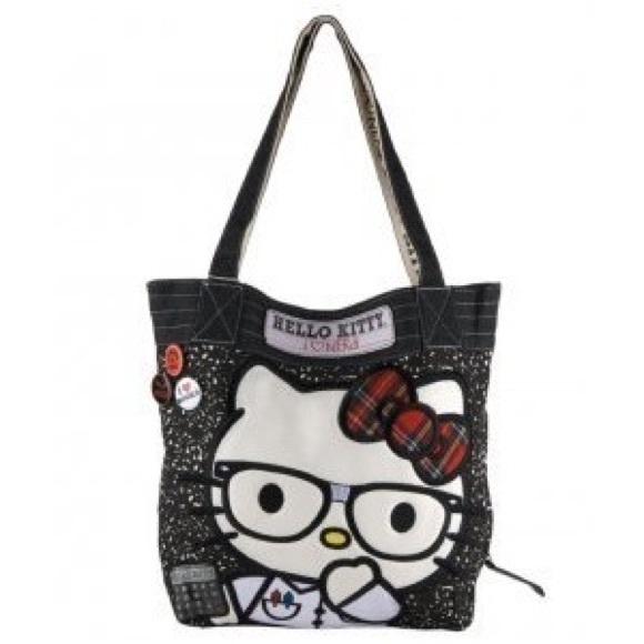 beeba38264 Hello Kitty Handbags - Hello Kitty I Love Nerds Loungefly Totebag ❤️